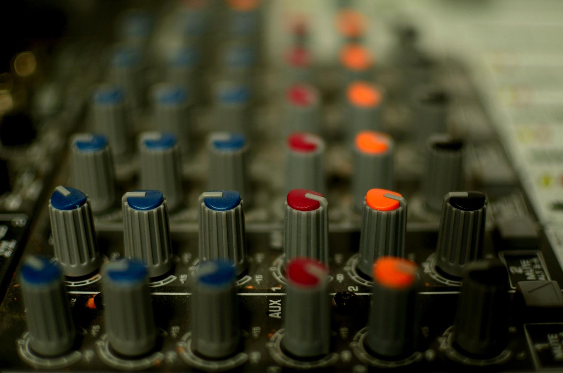 Wedding DJ mixing board